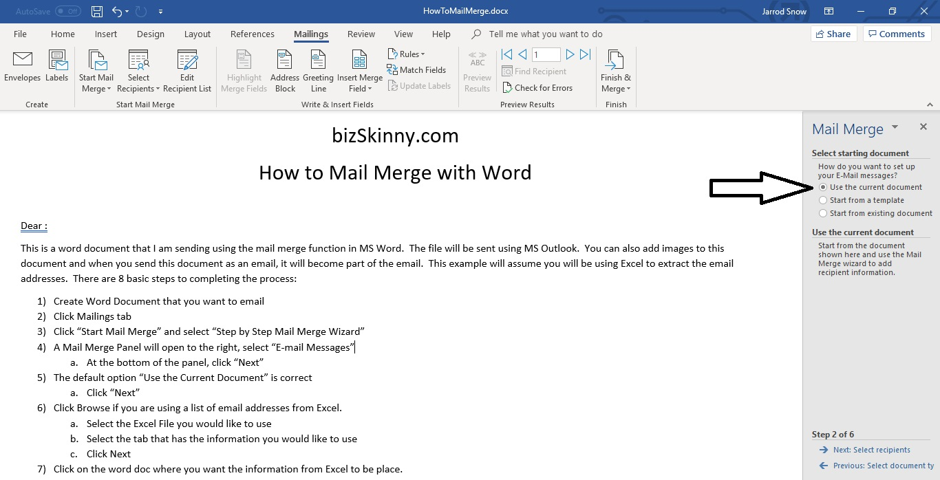 How to Mail Merge | Step by Step Email Mail Merge | Word